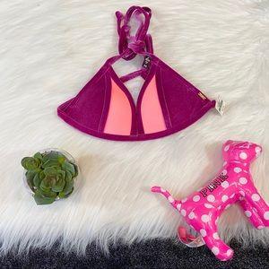 VS PINK velvet bikini top